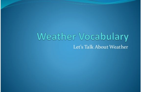 Intermediate Weather Vocabulary