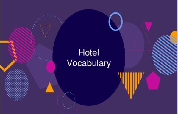 Intermediate ESL Hotel Vocabulary