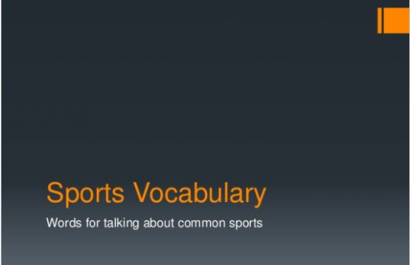 Sports Vocabulary for ESL Learners