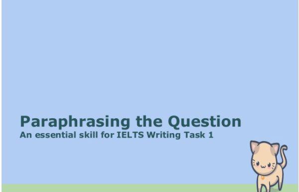 Teaching Paraphrasing Skills for ESL