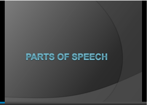 Parts of Speech Worksheet
