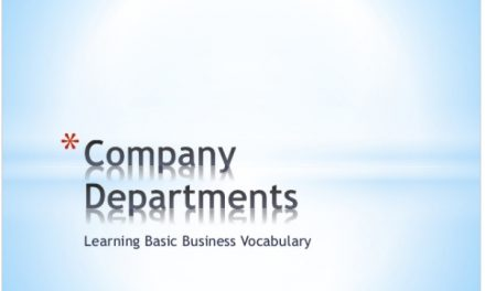 Company Departments – Basic ESL Vocabulary