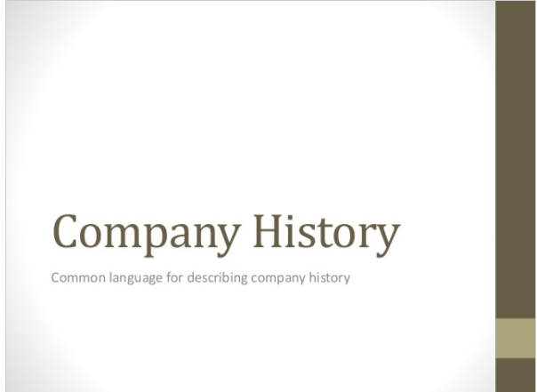 Business English Vocabulary – Company History