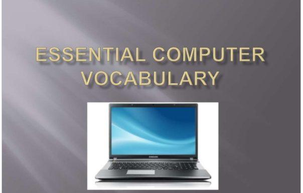 ESL Essential Computer Vocabulary