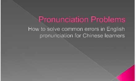 How to Correct Pronunciation Problems in Chinese Learners