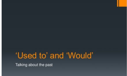 """Using """"used to"""" and """"would"""" to talk about the past"""