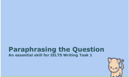 Teaching Paraphrasing Skills for ESL
