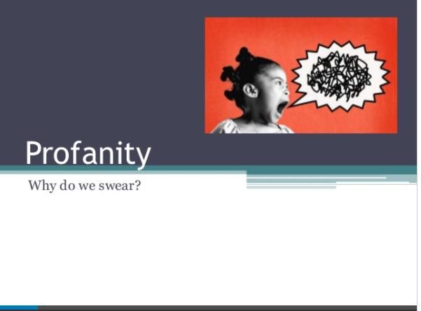 Teaching Profanity to ESL Students