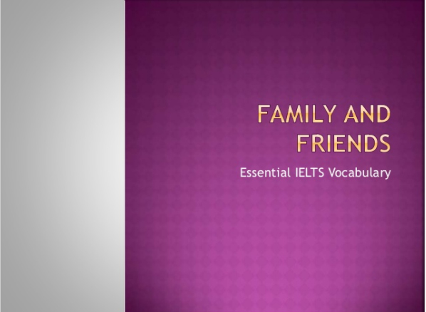 Teaching Intermediate ESL Friends and Family Vocabulary