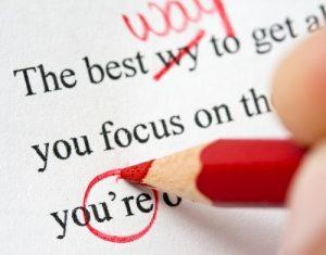 Marking an essay