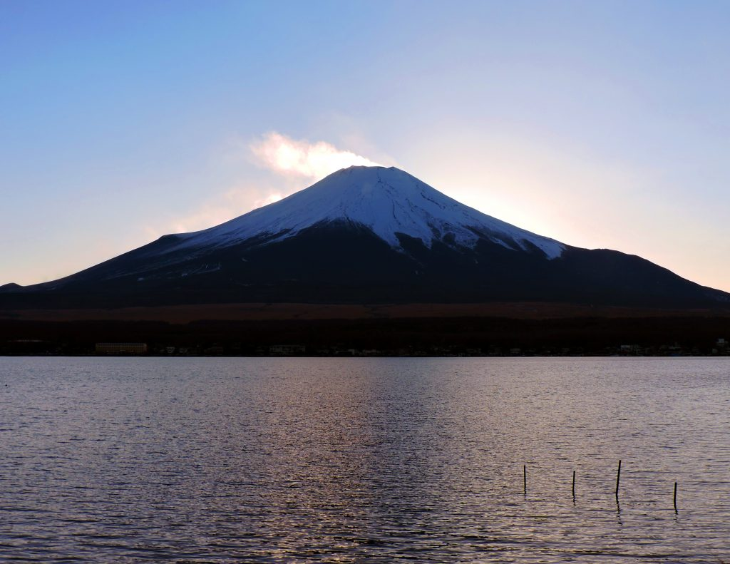 mount fuji from lake yamanakako