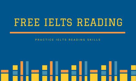 Free IELTS Reading Practice