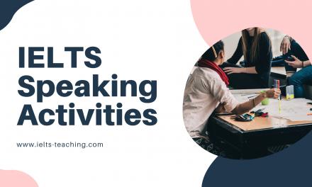 IELTS Speaking Class Activities